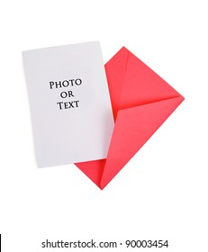 Blank Card with Red Envelope