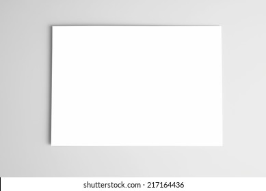 Blank card or sheet of paper