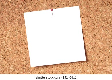 Blank card for your message pinned to a notice board