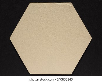 Blank cardboard beermat for a pint of beer