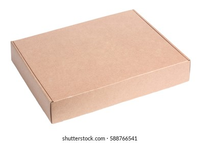 Blank cardboard box package isolated on white background