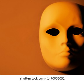 Blank Carnival Mask with dramatic lighting