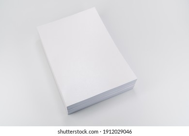 Blank catalog, magazines, book mock up on white background