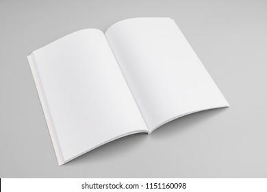Blank catalog, magazines,book mock up on grey background.