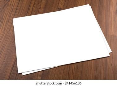Blank catalog,brochure, magazines,book mock up on wood background
