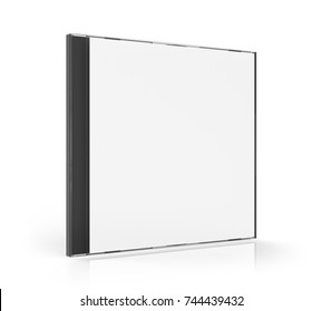 Blank CD Case Isolated. 3D rendering