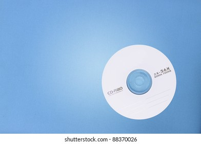 Blank CD on Blue Background