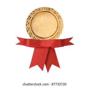 Blank certificate with ribbon, path in side