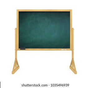 Blank Chalkboard Isolated. 3D rendering