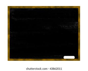 blank chalkboard with a white chalk on it
