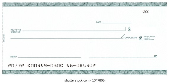 Blank Check (Fake Account)