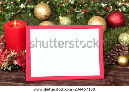 blank christmas card invitation red envelope stock photo edit now