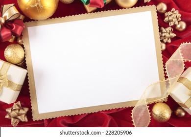 blank christmas card invitation blue envelope stock photo edit now