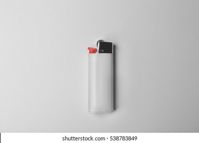 Blank cigar lighter on white background