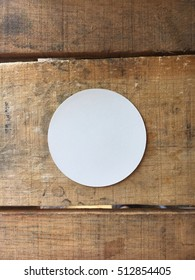 Blank Circle Bumper Sticker Mock-Up
