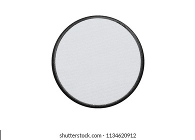 Blank circle Logo Patch on white background