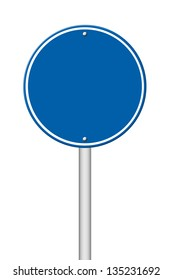 blank circle sign on white background