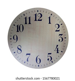Blank Clock Face against a White Background