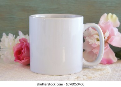 Blank coffee cup or mug for use in product mock ups.