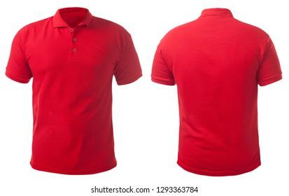 Blank gefärbtes Hemd, Mockup-Vorlage, Front- und Rückansicht einzeln auf weiß, einfarbiges T-Shirt, Modell nach oben. Die Design-Modell-Präsentation für den Druck.