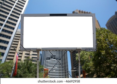 Blank commercial billboard city and building on background