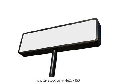 blank commercial billboard isolated on white background