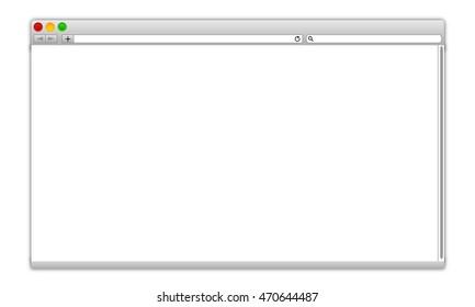 blank computer interface