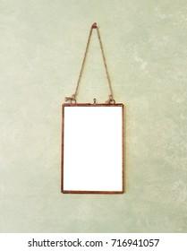Blank Copper Hanging Vintage Picture Frame
