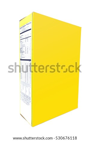 blank copy space yellow cereal box stock photo edit now 530676118