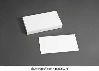Blank corporate identity package business card with clear gray background.