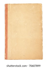 blank cover of an old book