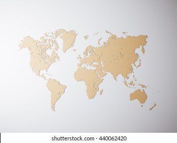 Political world map vector illustration editable vectores en stock blank craft political world map 3d rendering empty concrete wall background high textured gumiabroncs Images