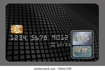 Blank credit card. You add lettering for credit card, debit card, etc.