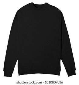 blank Crewneck black color for mockup template
