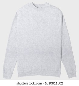 blank crewneck sweatshirt heather grey color for mockup template