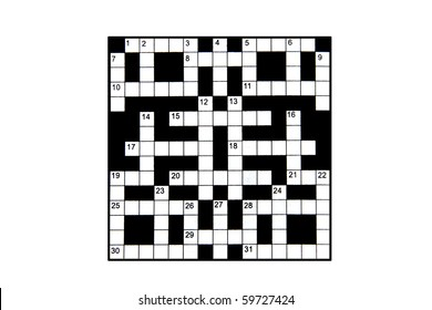 blank crossword