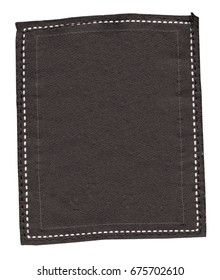 blank dark brown textile label. Useful for Your text