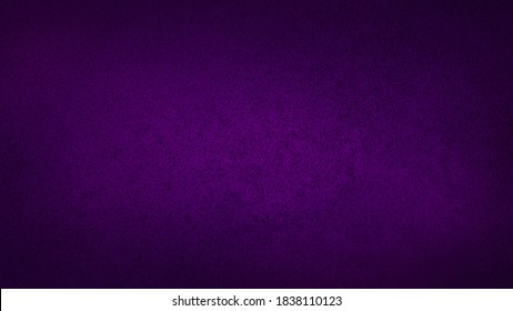 blank dark violet or purple soft grained cement stone tile texture background with dark gradient corner. abstract vignette violet or purple plaster wall background.