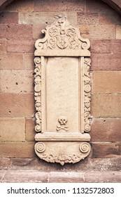 blank decorative info stone plate