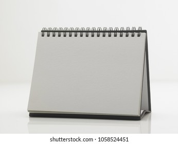 blank destop calendar on the white background