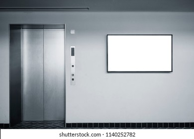 Blank Digital screen on wall Indoor Building Elevator Information banner