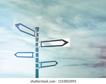 Blank directional road