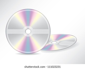 Blank discs with editable labels on grey background