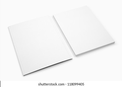 Blank Document and folder isolated on white / Stationery Branding objects