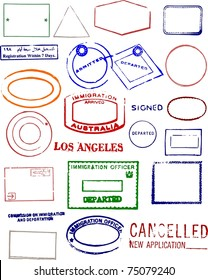 Blank Editable Passport Stamps