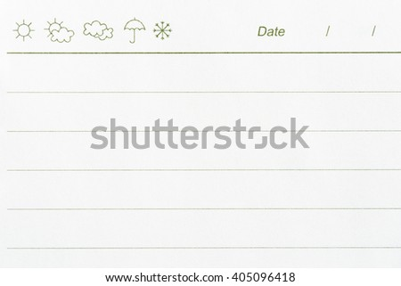 blank empty note paper lines date stock photo edit now 405096418