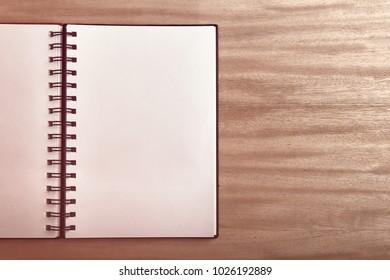 Blank empty notebook