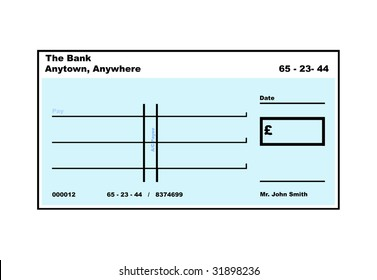copy of blank check