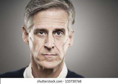 Blank Expression Senior Man