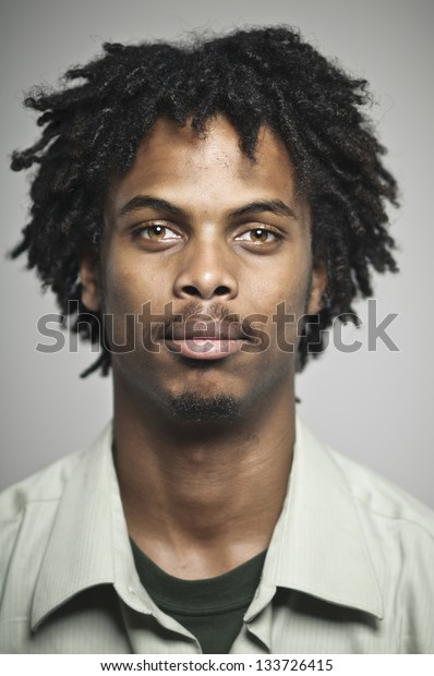 Blank Expression Young African American Man